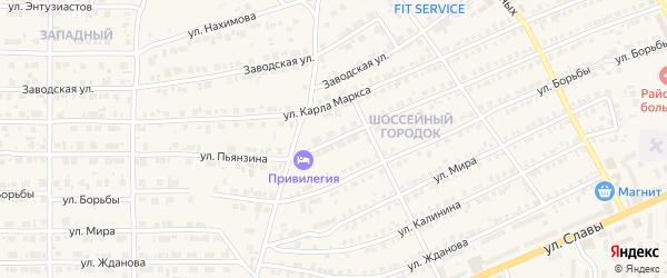 Улица Пьянзина на карте Карталы с номерами домов