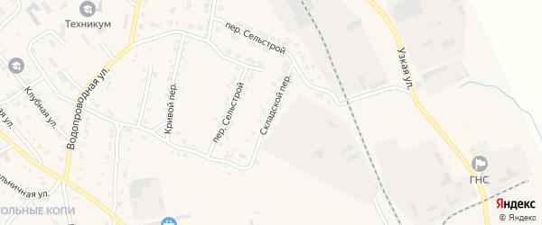Складской переулок на карте Карталы с номерами домов