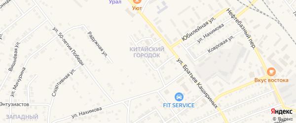 Улица Спецгородок на карте Карталы с номерами домов