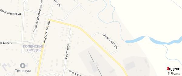 Узкая улица на карте Карталы с номерами домов