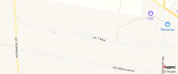 1 Мая улица на карте Кузнецкого села с номерами домов