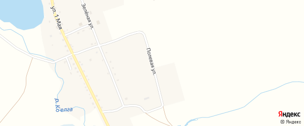 Полевая улица на карте деревни Щапино с номерами домов
