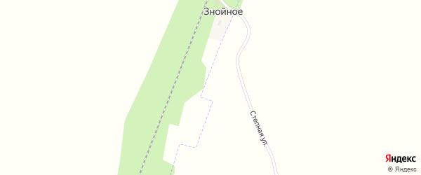 Степная улица на карте поселка Знойного с номерами домов
