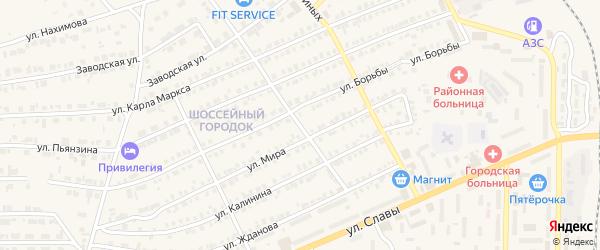 Улица Стройплощадка на карте Карталы с номерами домов
