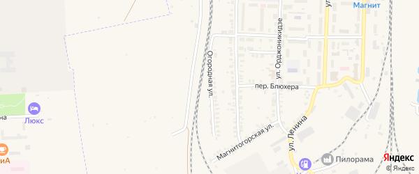 Огородная улица на карте Карталы с номерами домов