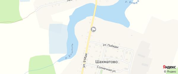 9 Мая улица на карте деревни Шахматово с номерами домов