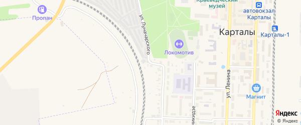 Улица Луначарского на карте Карталы с номерами домов