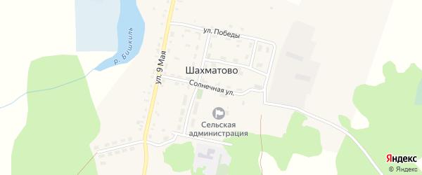 Солнечная улица на карте деревни Шахматово с номерами домов