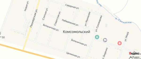 Улица Гагарина на карте Комсомольского поселка с номерами домов