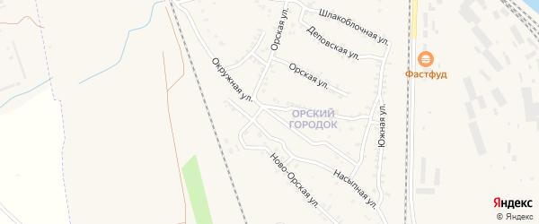 Окружная улица на карте Карталы с номерами домов