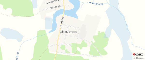 Карта деревни Шахматово в Челябинской области с улицами и номерами домов