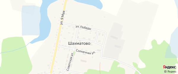 Молодежная улица на карте деревни Шахматово с номерами домов