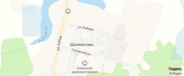 Северная улица на карте деревни Шахматово с номерами домов