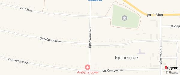 Проезжий переулок на карте Кузнецкого села с номерами домов