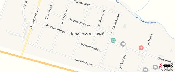 Заречная улица на карте Комсомольского поселка с номерами домов