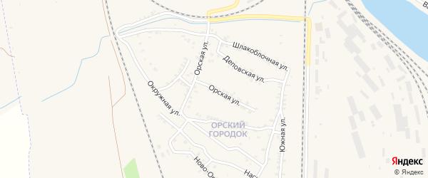 Орская улица на карте Карталы с номерами домов