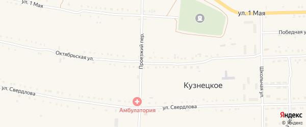 Октябрьская улица на карте деревни Ишалина с номерами домов