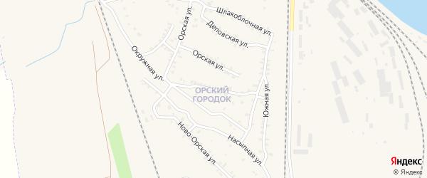 Песчанный переулок на карте Карталы с номерами домов