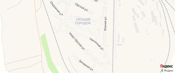 Ново-Орская улица на карте Карталы с номерами домов