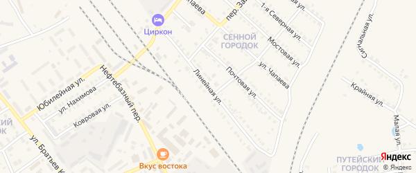 Линейная улица на карте Карталы с номерами домов