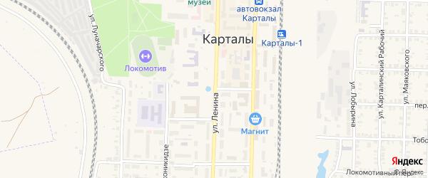 Улица Ленина на карте Карталы с номерами домов
