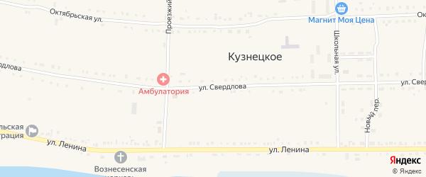 Улица Свердлова на карте Кузнецкого села с номерами домов