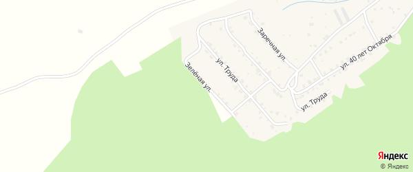 Зеленая улица на карте поселка Вишневогорска с номерами домов