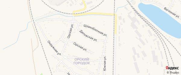 Деповская улица на карте Карталы с номерами домов