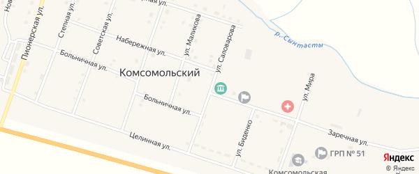 Улица Саловарова на карте Комсомольского поселка с номерами домов
