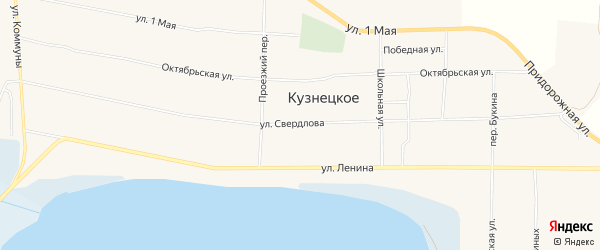 Карта Кузнецкого села в Челябинской области с улицами и номерами домов