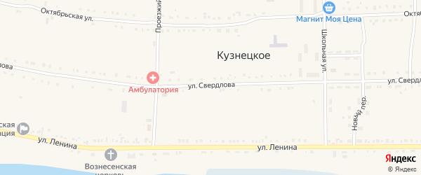 Прудовая улица на карте Кузнецкого села с номерами домов