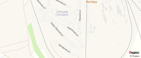 Насыпная улица на карте Карталы с номерами домов