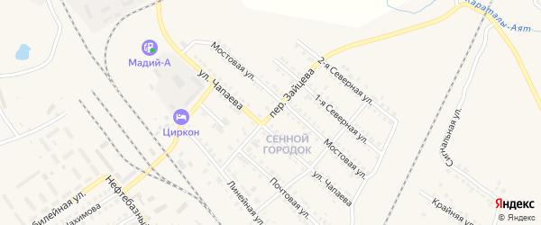 Переулок Зайцева на карте Карталы с номерами домов