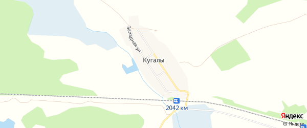 Карта деревни Кугалы в Челябинской области с улицами и номерами домов