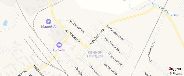 Мостовая улица на карте Карталы с номерами домов