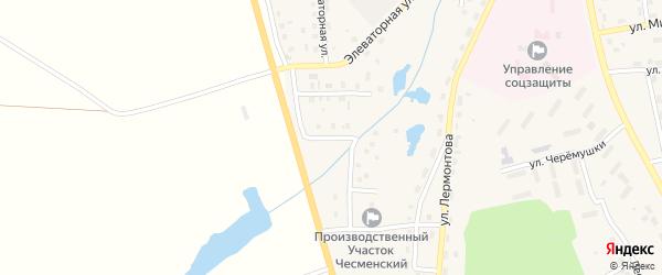 Российская улица на карте села Чесмы с номерами домов