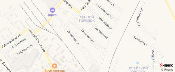Почтовая улица на карте Карталы с номерами домов