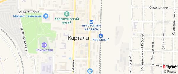 Улица Пушкина на карте Карталы с номерами домов