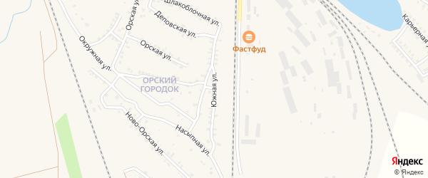 Южная улица на карте Карталы с номерами домов