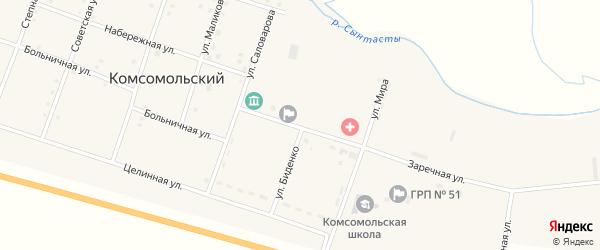 Улица Горького на карте Комсомольского поселка с номерами домов
