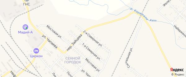 2-я Северная улица на карте Карталы с номерами домов