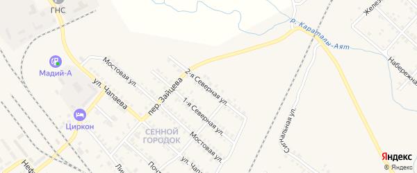 Улица 2-й Стройучасток на карте Карталы с номерами домов