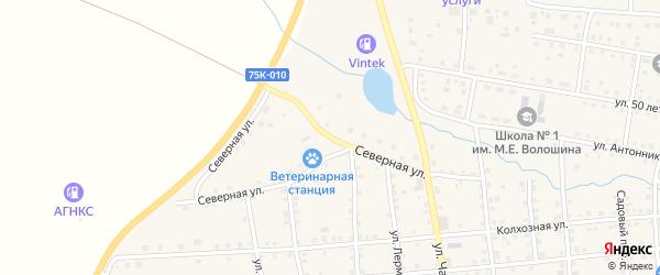 Северная улица на карте села Чесмы с номерами домов