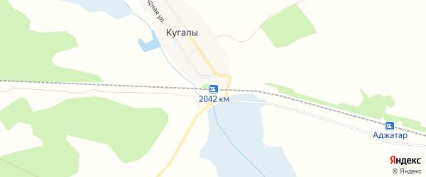 Карта железнодорожной платформы 2042 км в Челябинской области с улицами и номерами домов