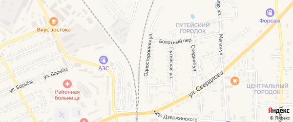 Односторонняя улица на карте Карталы с номерами домов