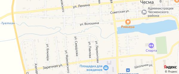 Улица Павлова на карте села Чесмы с номерами домов
