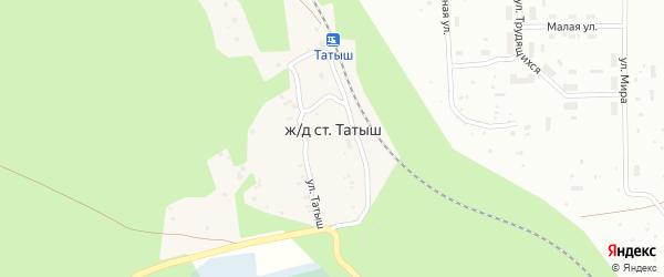 Поселок Татыш на карте поселка Татыша с номерами домов