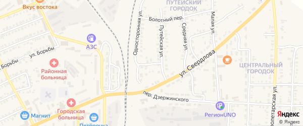Путейская улица на карте Карталы с номерами домов
