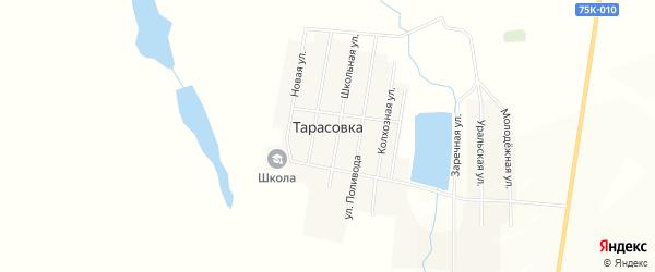 Карта поселка Тарасовки в Челябинской области с улицами и номерами домов