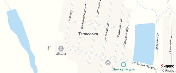 Школьная улица на карте поселка Тарасовки с номерами домов